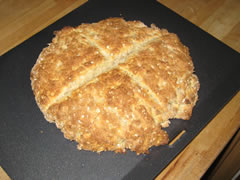 Finished oat bread, it won't last long