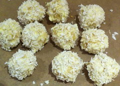 The finished snowballs