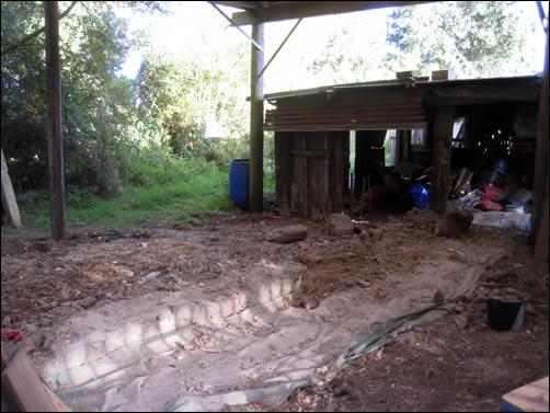 Barn shed gone