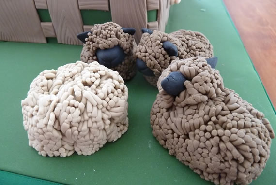 Ryeland sheep in icing