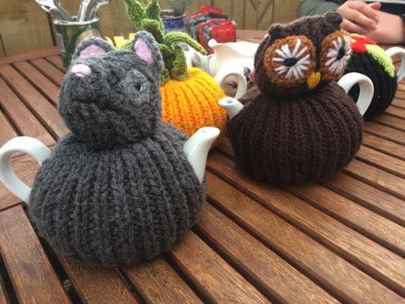 Comrie Croft tea cosies