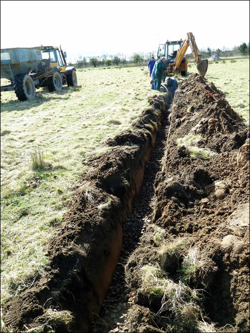 Field drain installation
