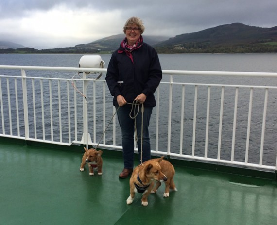 On the boat to Bute