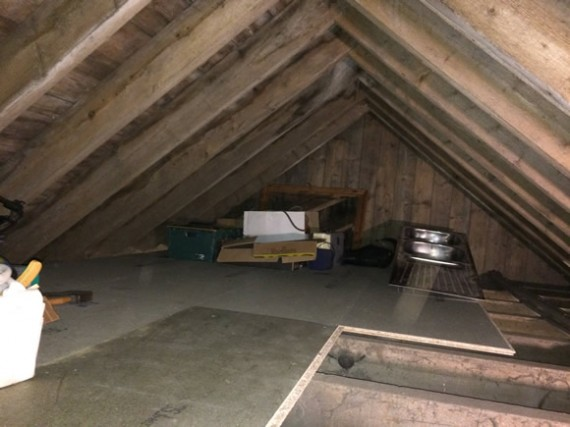 West Range roof storage