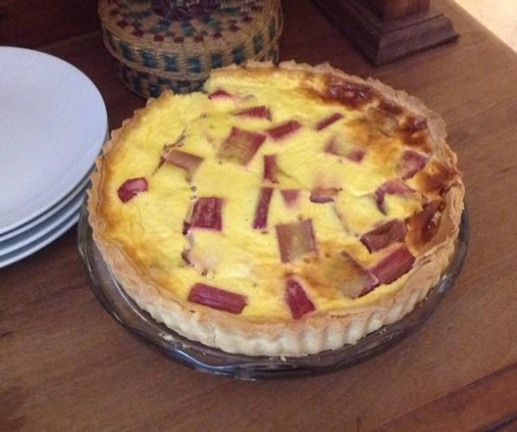 Rhubarb & Sour Cream tart