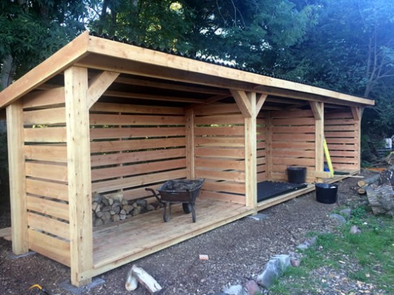 Wood store completion